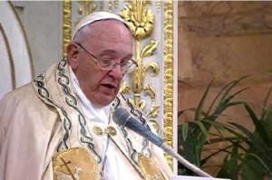Paus dalam Vesper diBasilika St Paulus di Luar Tembok