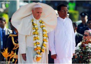 Paus dan Presiden Stri Lanka