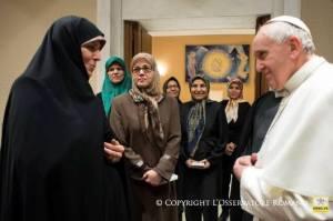 Paus dan Iran tentang perempuan1