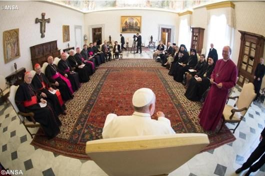 Paus bersama Dewan Waligereja Eropa dan Pemimpin Gereja Gereja Eropa