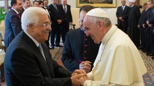 Paus dengan Presiden Palestina Mahmoud Abbas