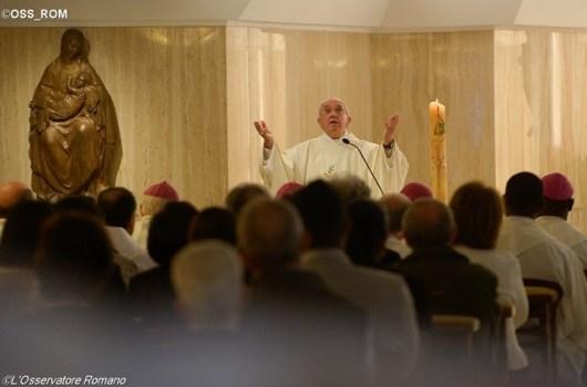 Paus rayakan Misa di Santa Marta