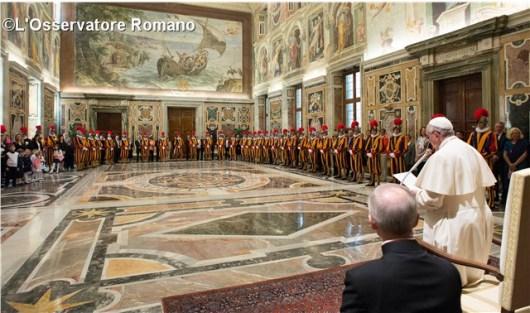Swiss Guard Pope Francis