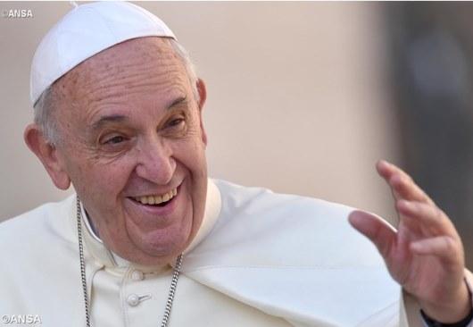 Paus menyalami para pengunjung di Lapangan Santo Petrus