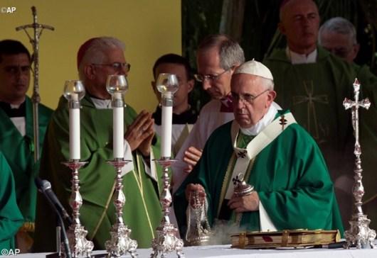 Misa Paus Fransiskus di Plaza Revolusi Havana 20 September 2015
