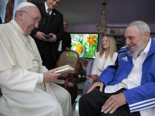 Paus Fransiskus dan Fidel Castro