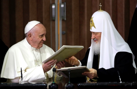 pope francis russian orthodox kirill AFP
