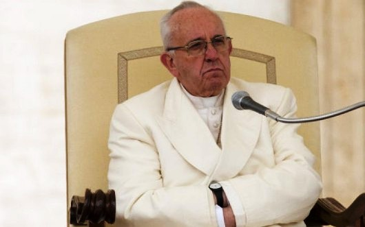 Foto PA tentang Paus tentang kekejian di Brussel