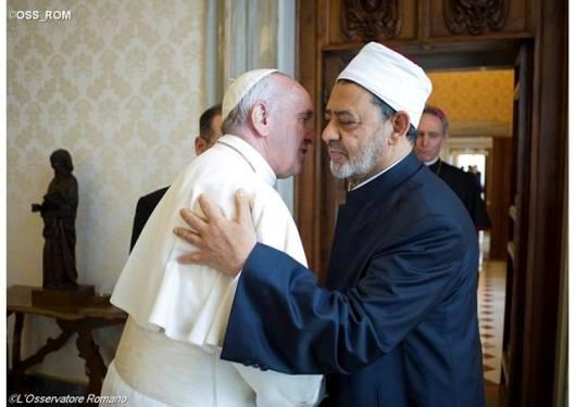 Paus bertemu Imam Besar Ahmed al Tayyeb