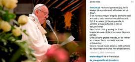 Kini Paus memiliki tiga juta lebih pengikut di akun Instagramnya
