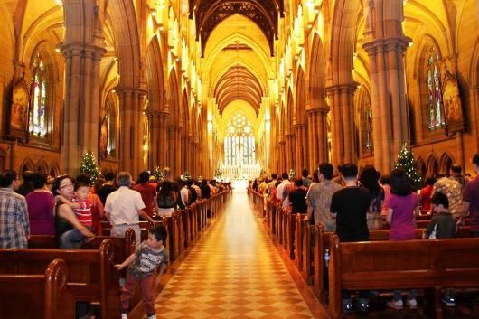 Misa Natal KKI Sydney di Katedral Santa Maria Sydney. Foto dari Facebook KKI di Australia