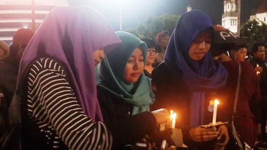 Kaum muda dalam Haul Gus Dur ke-7 di Semarang