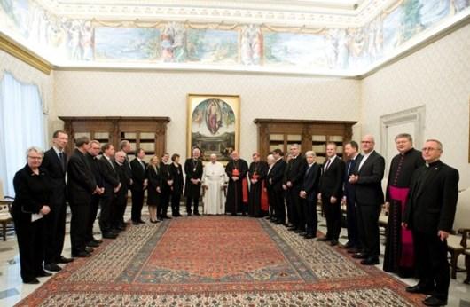 Paus Fransiskus menerima delegasi ekumenis dari Jerman