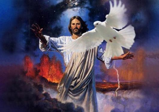 Penghibur yang akan Kuutus dari Bapa datang, yaitu Roh Kebenaran yang keluar dari Bapa