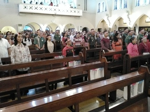 Misa HUT RI ke- 72 di Gereja Katedral Santa Perawan Maria Dari Gunung Karmel, Malang. Kamis (17- 8- 2017) (19)