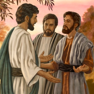 Jesus talks to Philip and Nathanael