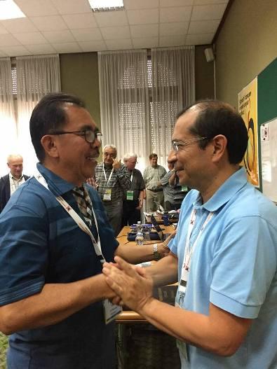 Bersama Pastor Poltje Pitoy MSC dari Indonesia