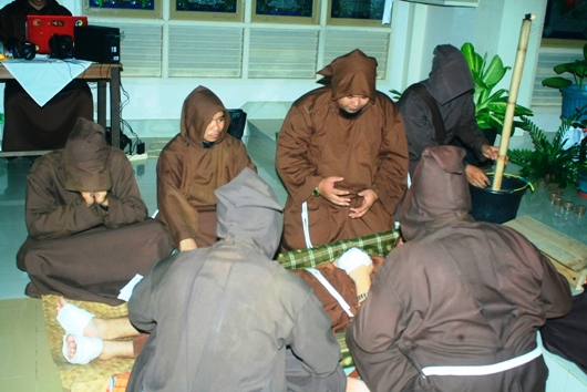 Tablo menjelang wafatnya Santo Fransiskus