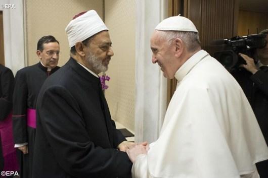 Paus Fransiskus dan Sheikh Ahmed Muhammad al-Tayeb