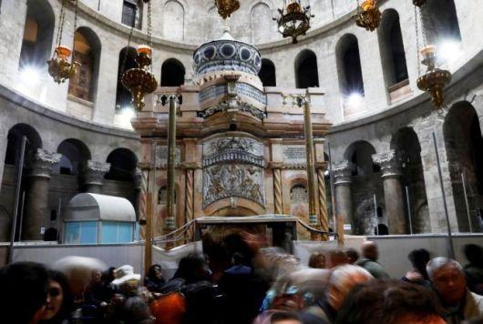 Gua kosong Yesus di Yerusalem. Foto oleh Ronen Zvulun dari Reuters