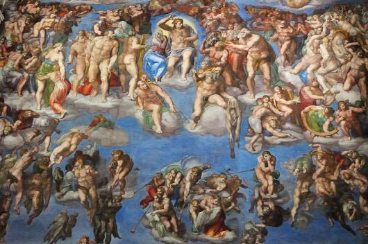 Lukisan Pengadilan  Terakhir karya Michelangelo di Kapel Sistina