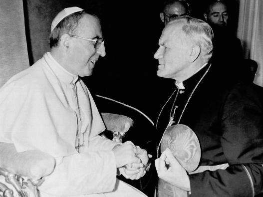 Kardinal Karol Wojtyla bersama Paus Yohanes Paulus I, 1978. © EAST NEWS