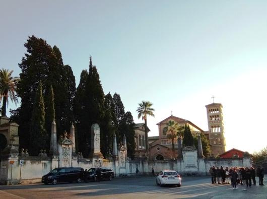 Di Biara Santo Anselmus di Bukit Avebtine Roma ini terletak Pusat Konfederasi  Benedictin. Foto PEN@ Katolik/paul c pati
