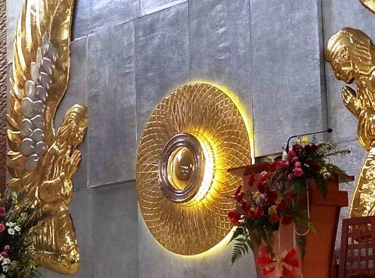 Tabernakel Gereja Maria Ratu Pencinta Damai, Pancasila, Pontianak