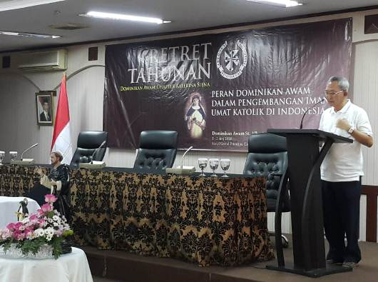 Presiden Dominikan Awam Chapter Katarina Siena Stefanus Suriaputra OP