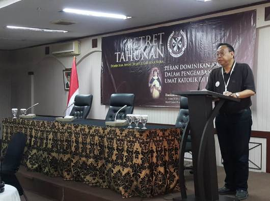 Ketua Panitia Retret JRM Winarendra OP/Foto:  P Winarno OP