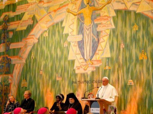 Paus Fransiskus ambil bagian dalam pertemuan ekumenis  di WCC, Jenewa  (AFP)