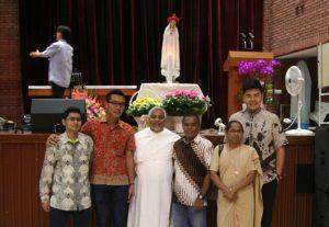 bersama Sr. Kukila,OP dan fr. Prakash, OP