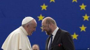 Paus dengan Martin Schulz Foto dari BBC