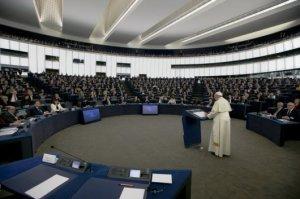 Paus di Parlemen Uni Eropa Foto AP