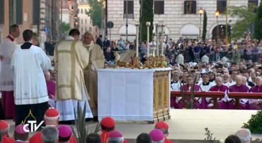 Paus dalam HR Tubuh dan Darah Kristus