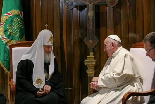Pertemuan Paus dan Patriark Kirill di Bandara havana oleh Vatikan Insider