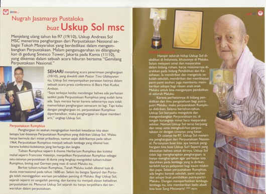 Award Perpustakaan Mgr Sol
