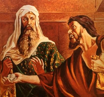 Judas' 30 pieces of silver