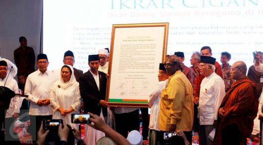 Ikrar Ciganjur diterima oleh Presiden Jokowi. Foto oleh Liputan6.com