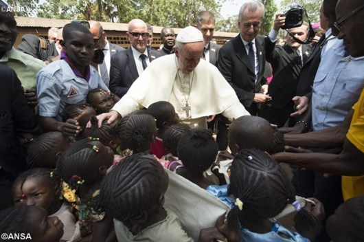 Paus Fransiskus di Afrika Tengah 29 November 2015, ANSA