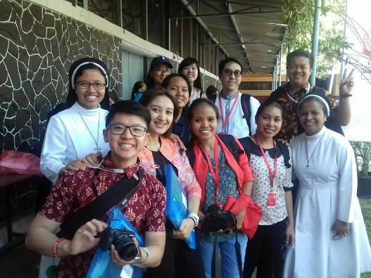 Peserta AYD dari Taiwan, Timor Timur dan Indonesia di Persekolahan Santa Maria yang dijalankan suster-suster Dominikan