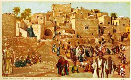 Jesus-passing-through-villages-on-his-way-to-jerusalem-tissot