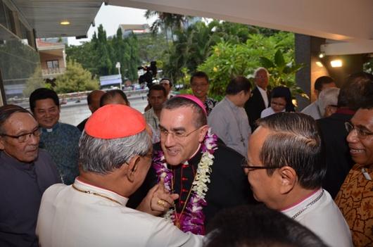Duta Vatikan disambut para uskup