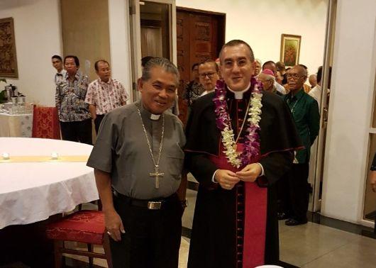 Mgr Agus dan Duta Vatikan yang baru