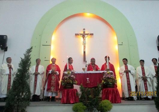 misa syukur ultah Mgr. Agustinus Agus yang ke-68