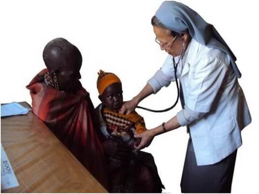 Sustet Silvy ketika masih bertugas di misi Kenya sebagai bidan.