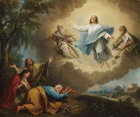 Transfigurasi Yesus Kristus bersama Musa dan Elia oleh Francesco Zuccarelli (1702-1788); commons.wikimedia.org