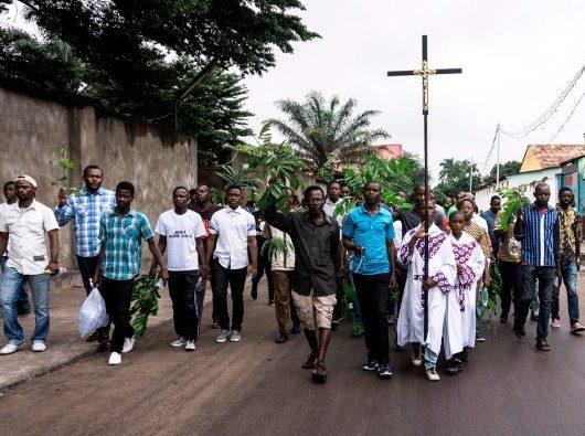 Demonstran Katolik di Kinshasa meminta  Presiden untuk berhenti (AFP)
