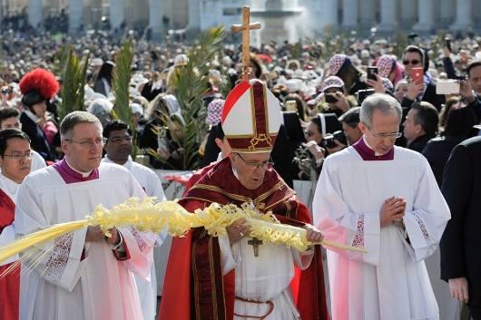 Minggu Palma, Paus Fransiskus