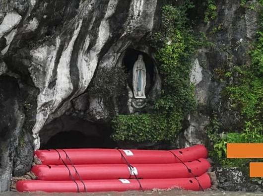 Lourdes dilanda banjir/Foto tangkapan layar dari La Croix